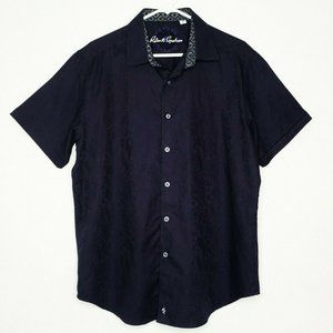 Robert Graham Black Paisley Button Down Shirt